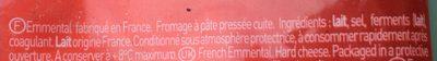 Emmental Rapé Savoureux - Ingrédients - fr