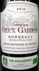 Bordeaux AOC 2010 Bio Château Vieux Gabiran - Product