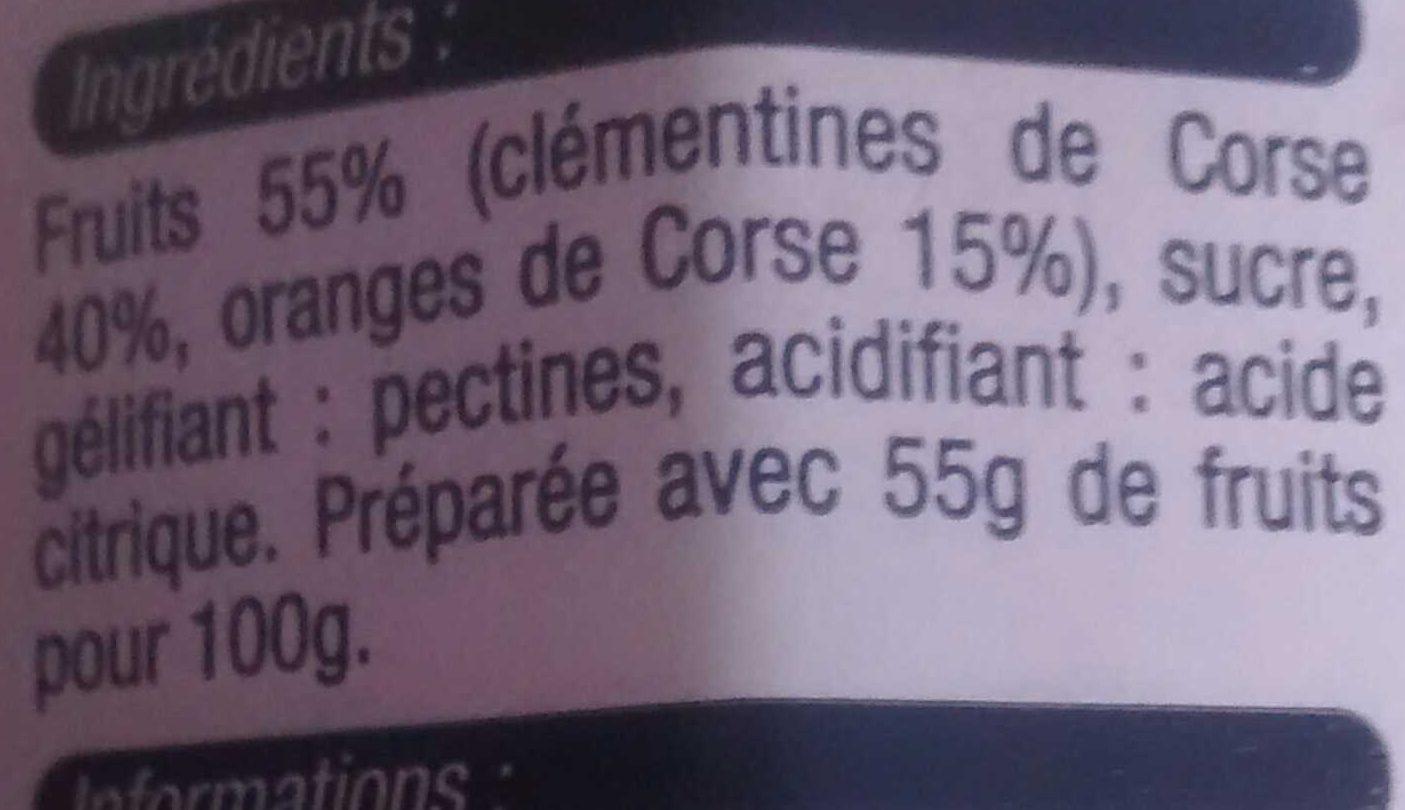 Préparation de clémentines et oranges de Corse - Ingrediënten - fr
