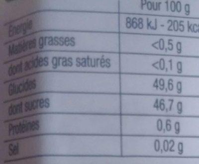 Préparation de clémentines et oranges de Corse - Voedingswaarden - fr
