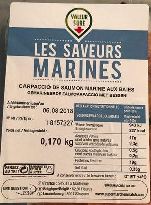 Carpaccio de saumon - Product