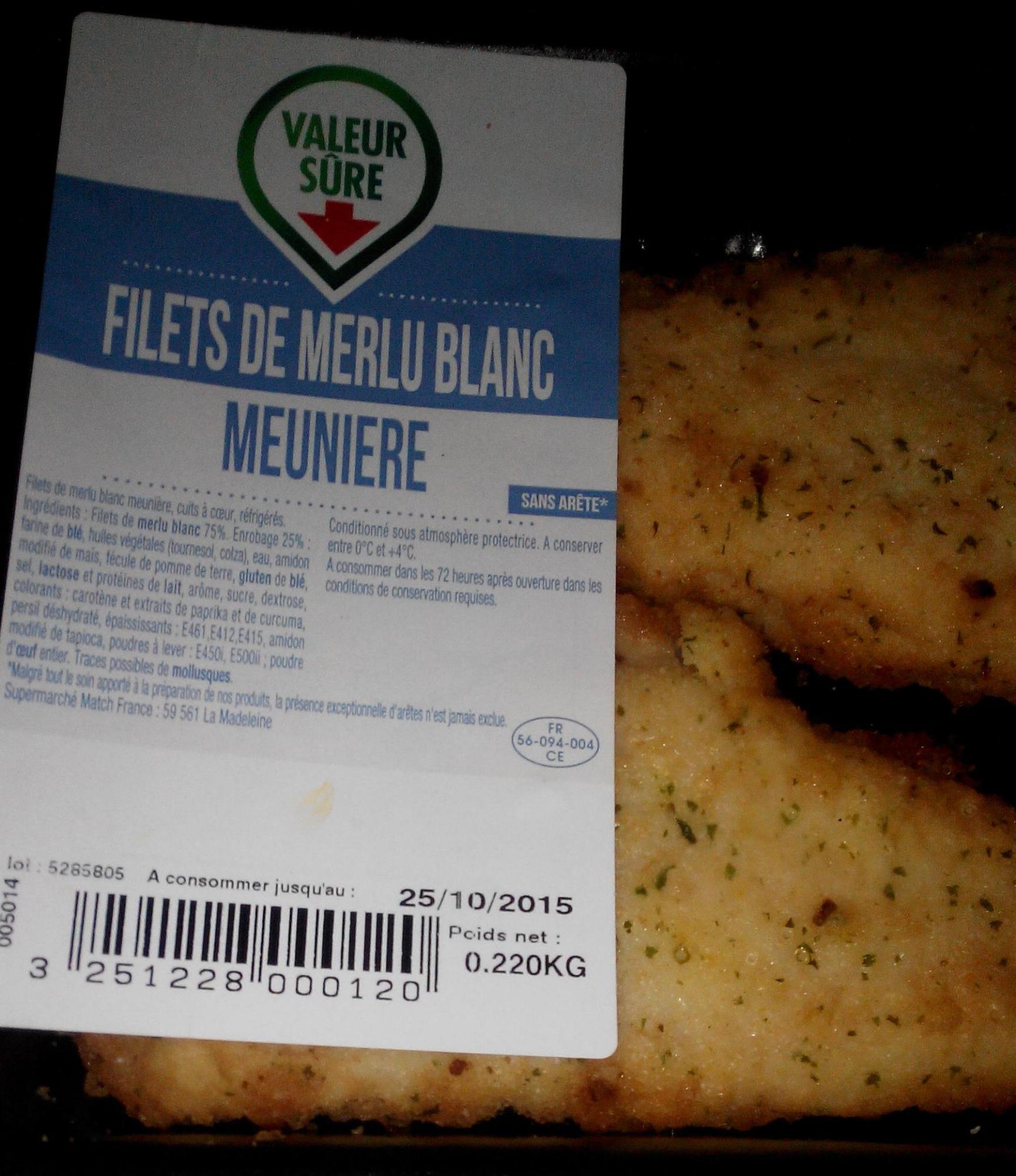 Filets de Merlu blanc meuniere - Product - fr