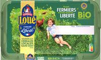15 x Œufs fermiers de LOUÉ bio - Product
