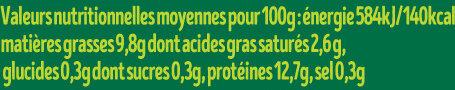 Œufs Bio - Nutrition facts - fr