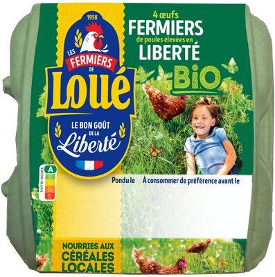 4 x Très Gros  Œufs fermiers de LOUÉ Bio - Product