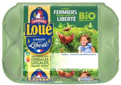 6 x Gros Œufs fermiers de LOUÉ Bio - Product