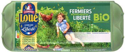 10 x Moyens Œufs fermiers de LOUÉ Bio - Product - fr