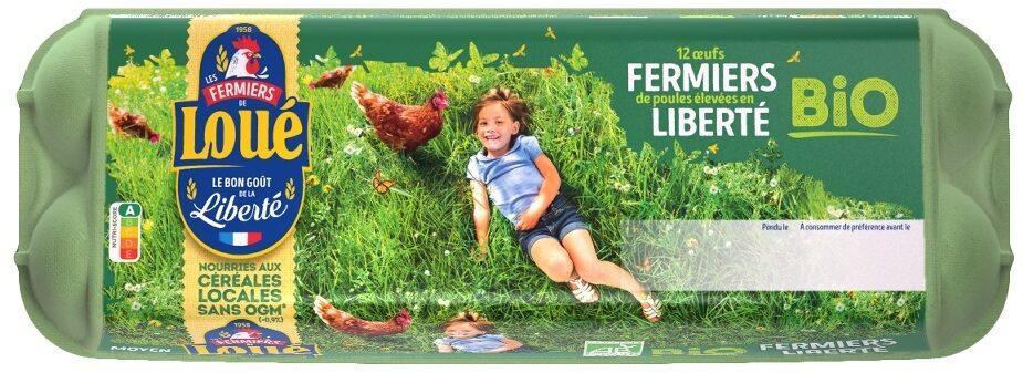 12 x Moyens Œufs fermiers de LOUÉ Bio - Product