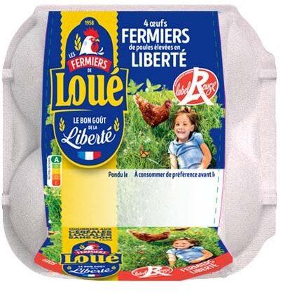 4 x  Gros Œufs fermiers de LOUÉ Label Rouge - Product - fr