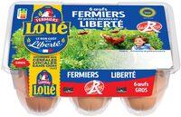 6x Gros Œufs fermiers de LOUÉ Label Rouge - Product