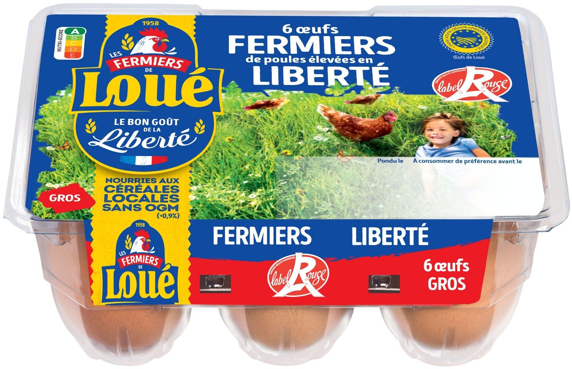 6x Gros Œufs fermiers de LOUÉ Label Rouge - Product - fr