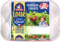 6 x Gros Œufs fermiers de LOUÉ Label Rouge - Produit