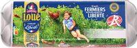12 x Moyens Œufs fermiers de LOUÉ Label Rouge - Product
