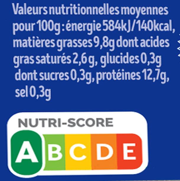12 x Moyens Œufs fermiers de LOUÉ Label Rouge - Nutrition facts