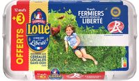 12 + 3 x Œufs fermiers de LOUÉ Label Rouge - Product