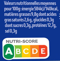 12 + 3 x Œufs fermiers de LOUÉ Label Rouge - Nutrition facts