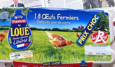 œufs fermiers - Produit