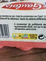 6 œufs Sol Extra-Frais - Ingredients