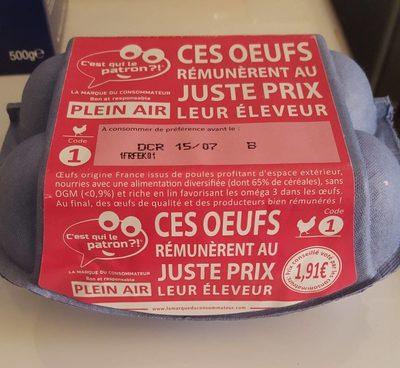 Oeufs Plein Air C'est qui le Patron ?! - Product