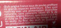 Oeufs Plein Air - Nutrition facts - fr
