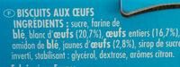 MOUSSE D'OR - Ingrediënten - fr