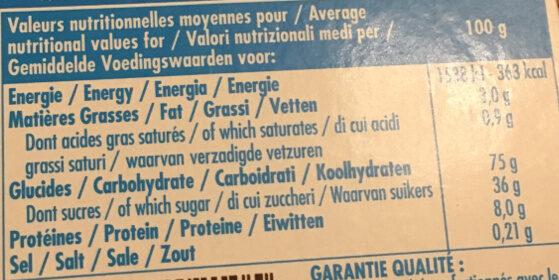 MOUSSE D'OR - Voedingswaarden - fr