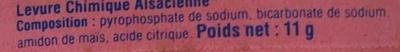 "Levure Chimique ""Alsacienne"" - Ingredients - fr"