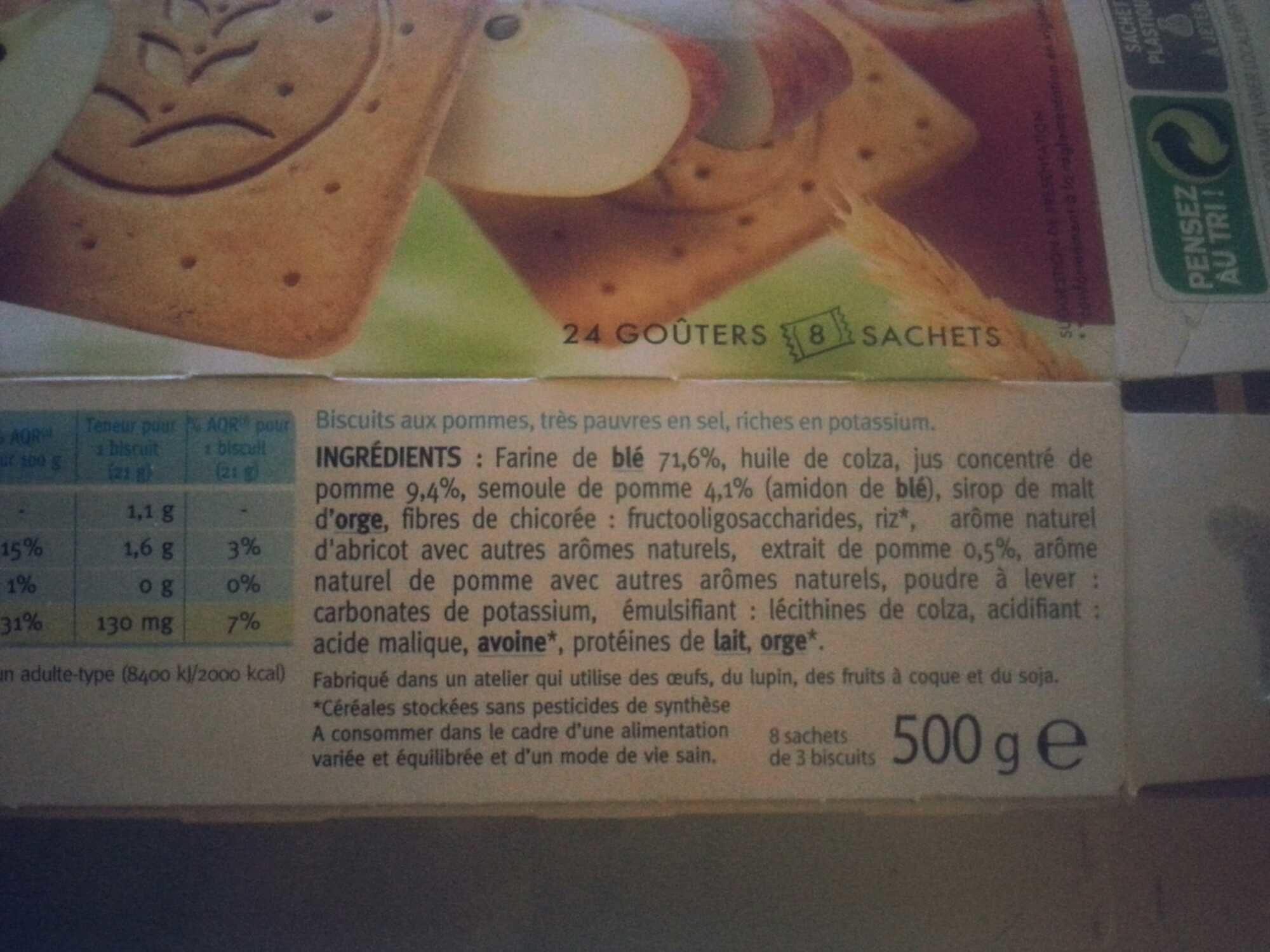 L'Expert diététique goûter 4S aux pommes - Ingrédients - fr
