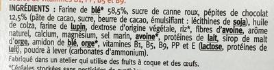 Goûter pépites de chocolat - Ingredients