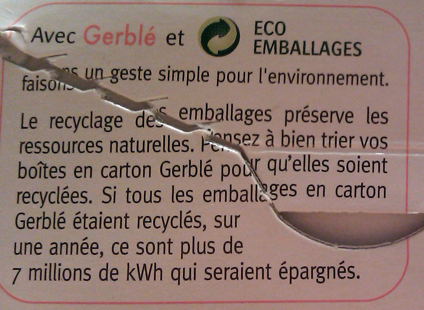 Biscuit complet au germe de blé - Instruction de recyclage et/ou informations d'emballage - fr