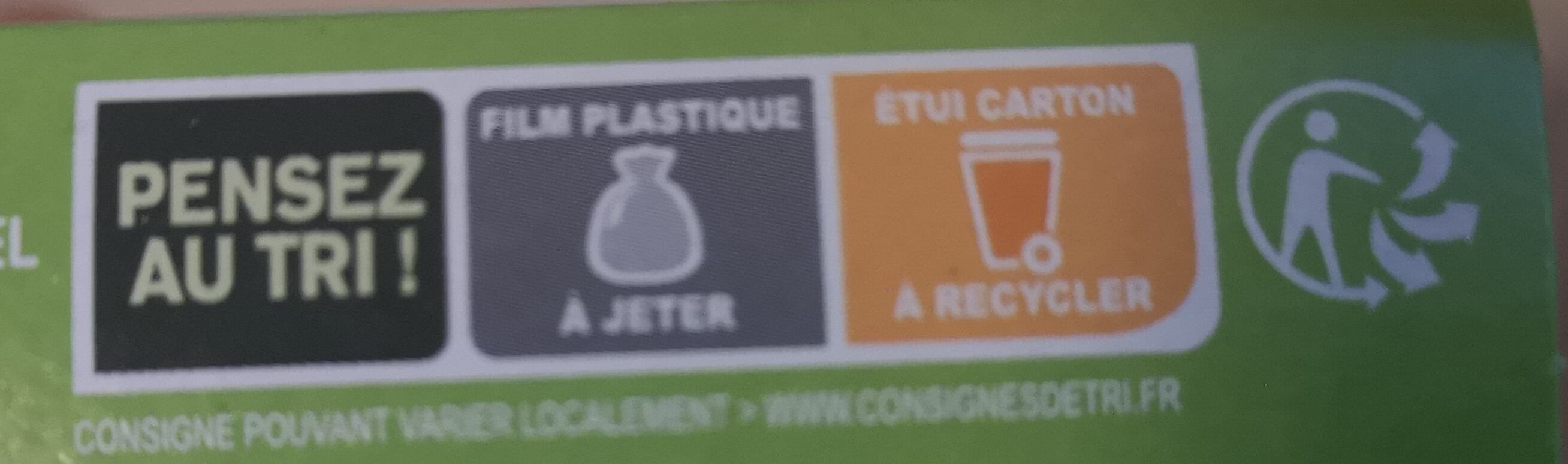 - Instruction de recyclage et/ou informations d'emballage - fr