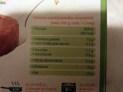 Croq' Soja au fromage - Nutrition facts