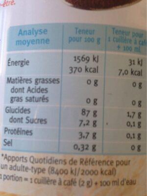 Cérécof - Informations nutritionnelles - fr
