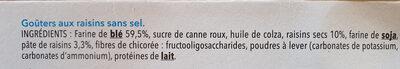 Biscuits Goûter aux raisins - Ingrédients - fr
