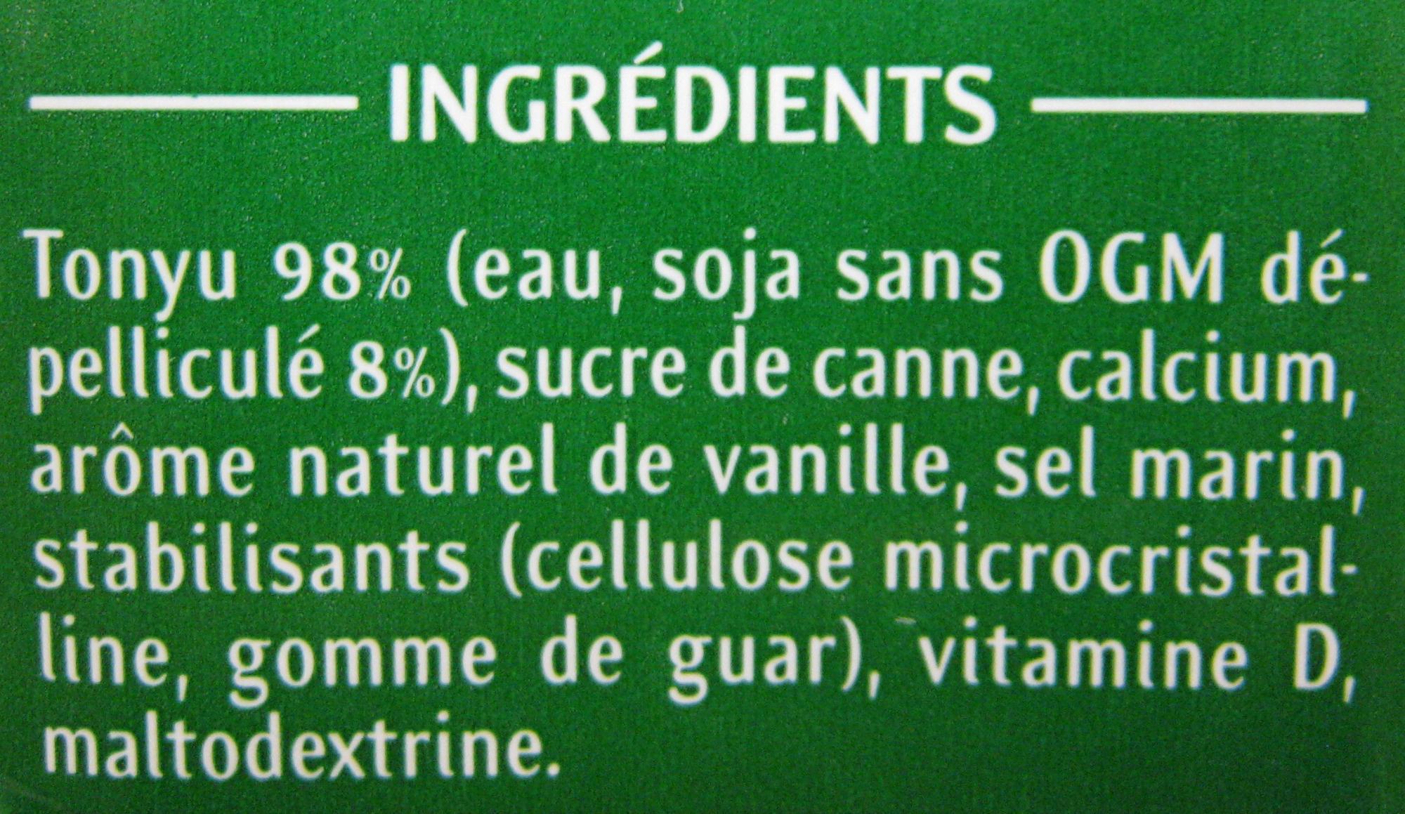 Soja Vanille - Ingrédients