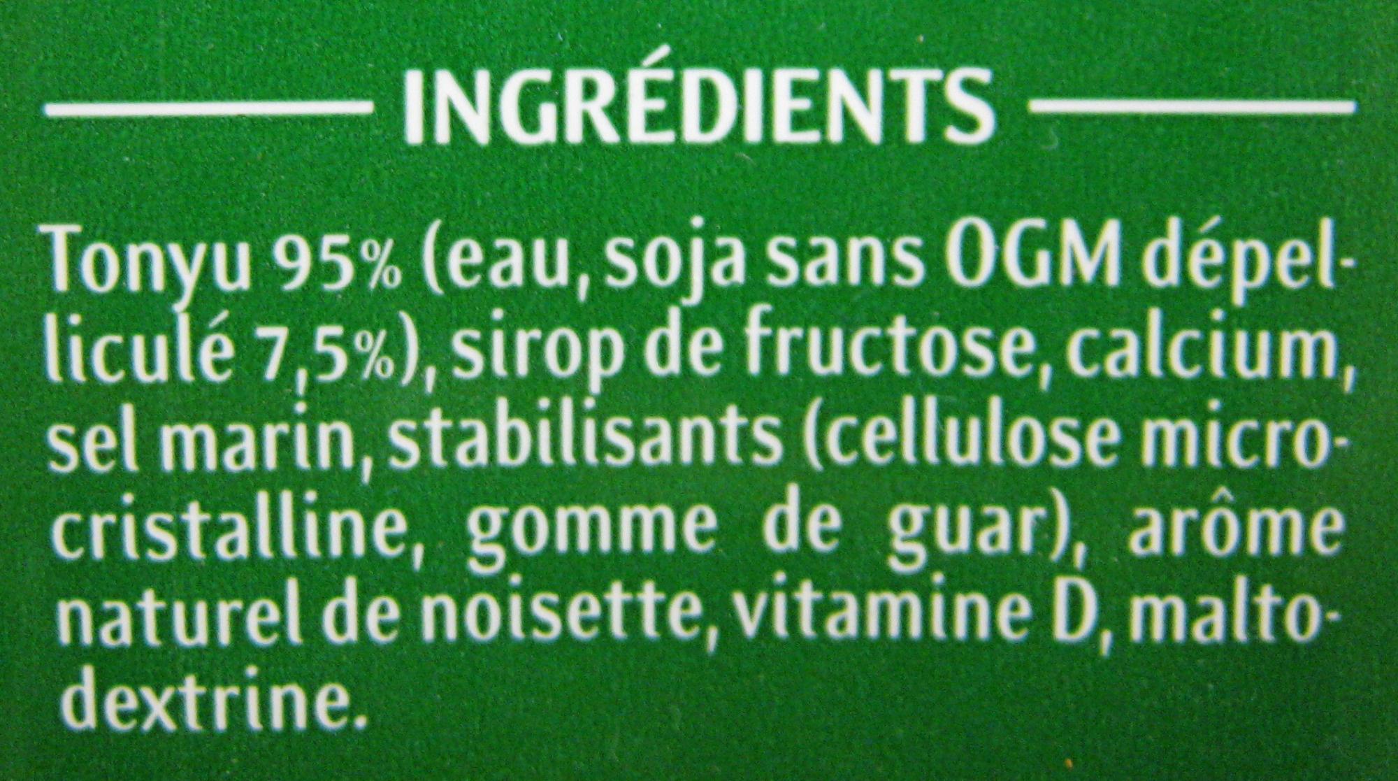 Soja Doux Saveur Noisette - Ingrédients