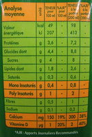 Soja Doux Saveur Noisette - Informations nutritionnelles