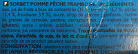 Sorbet Oasis Pêche Pomme Framboise - Ingredients - fr