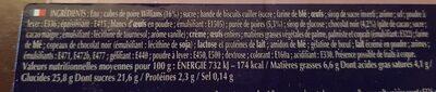 800G Charlotte Poire / Chocolat Boncolac - Informations nutritionnelles - fr