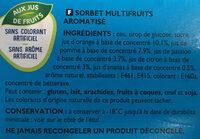 Sorbet multifruits Oasis - Ingrediënten