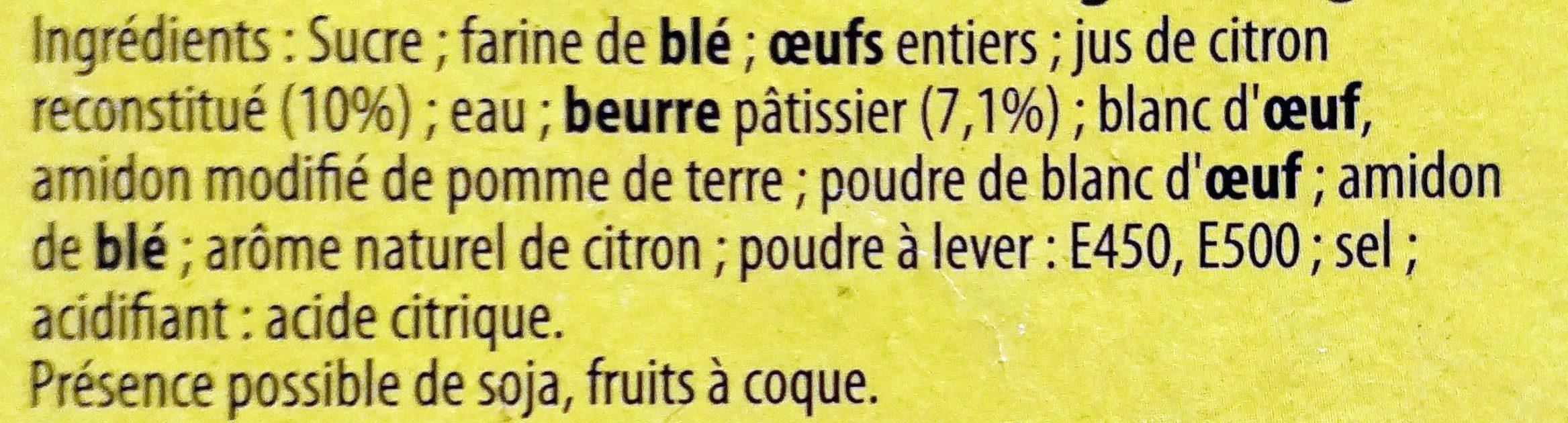 Tarte au Citron Meringuée - Ingrediënten