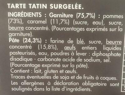 Tarte tatin - Ingrediënten - fr