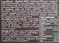 Tarte aux Framboises - Ingrediënten