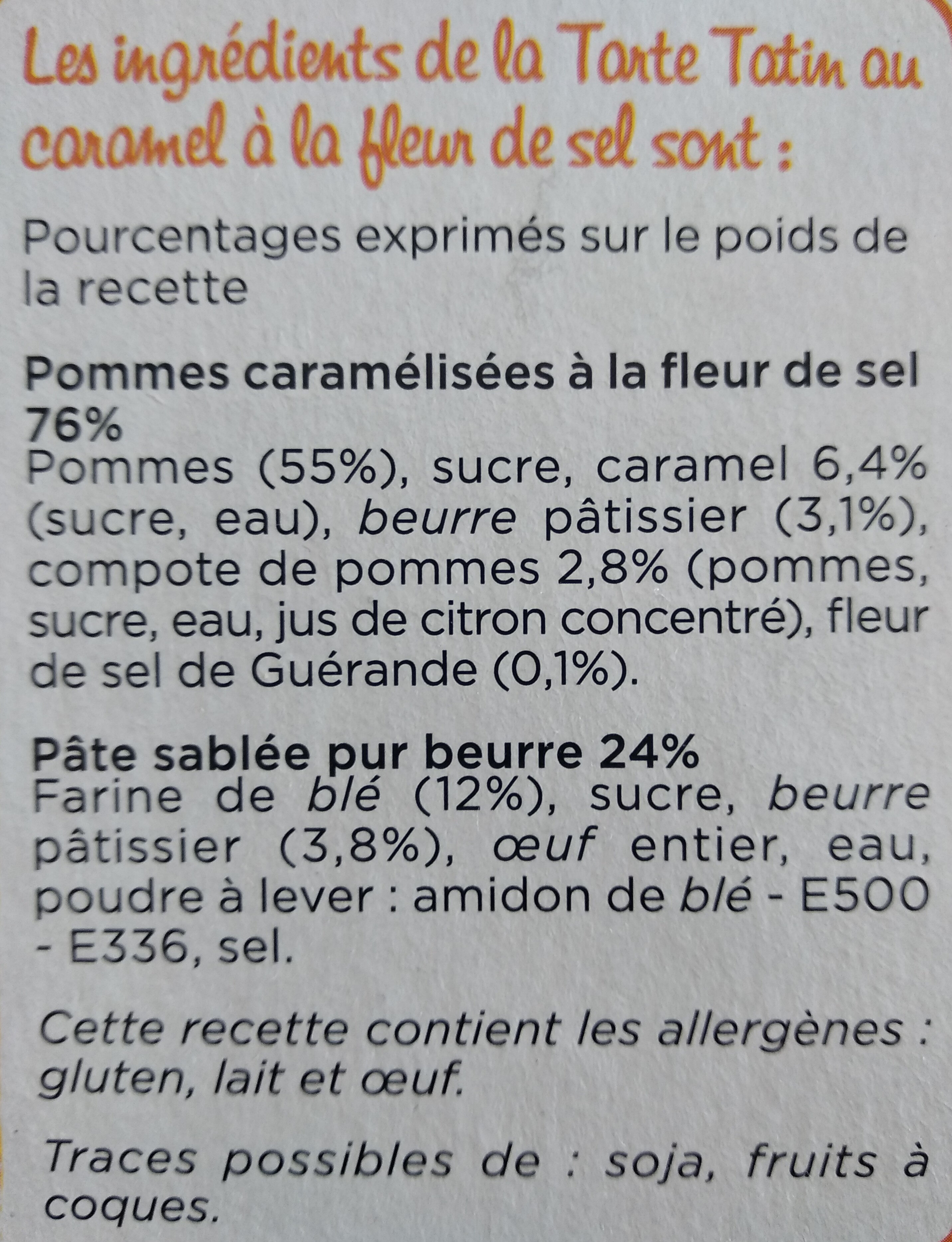 Marie tarte tatin - Ingrédients - fr