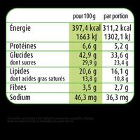 Marie fondantchocolat - Voedingswaarden - fr