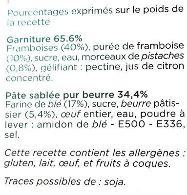 Marie tarteframboises - Ingredients