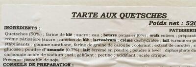 Tarte aux quetsches - Ingredients - fr