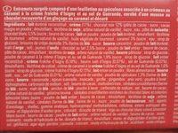 Entremets divin chocolat caramel - Ingrediënten - fr
