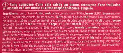 Tarte citron fabuleuse - Ingrédients - fr