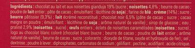 Tarte Chocolat Praliné Fabuleuse - Ingredients